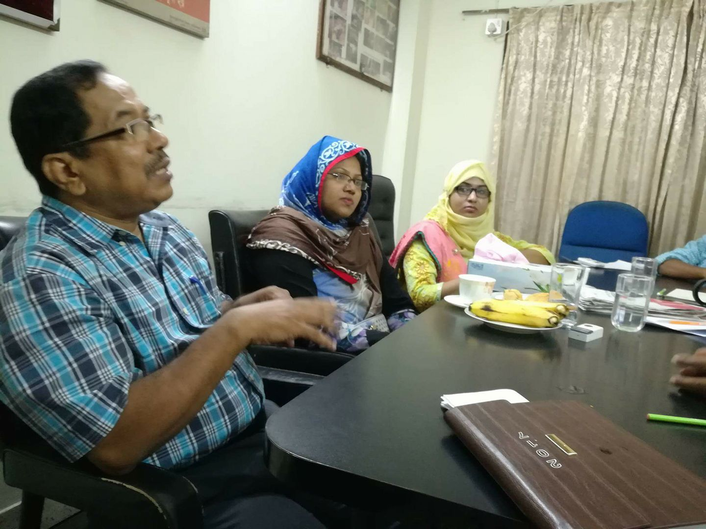 Planning meeting with Assistant Director, BNFE, Dhaka
